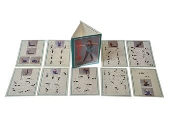 1 Set Quantity 9 Vintage Slovakia Postcards Set Collection Memorabilia Yoga Spine Health 1990