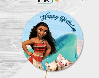 Disney Moana Cake Topper - Paper Centerpiece - Instant Download - Printable - Moana Party - Moana Birthday