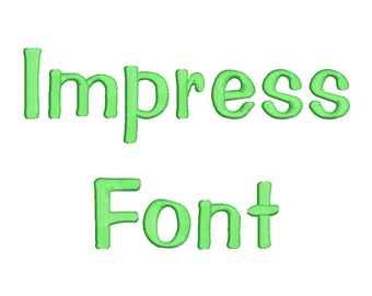4 Size Impress Font Embroidery Fonts BX  9 Formats Embroidery Pattern Machine BX Embroidery Fonts PES