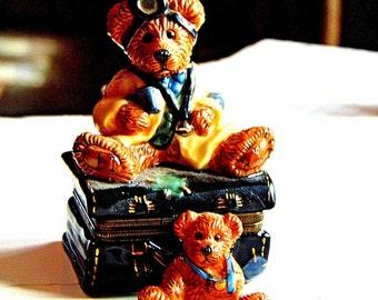"BOYDS BEARS Trinket Box ""Dr. Bear"""