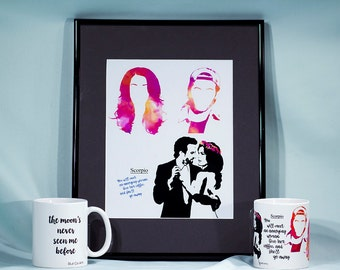 Java Junkie poster print - Gilmore girls - Lorelai and Luke
