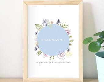 Gift MOM, MOM, poster illustration, flowers, decor, home decor, poster design, vegetable, poster, quote, typo, love