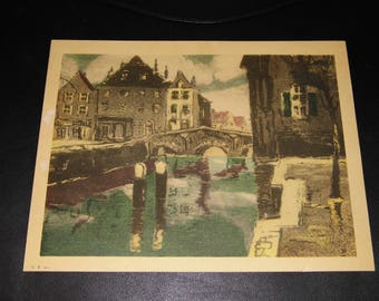 1930's Art - FREE World Wide Priority Mail w/insurance included !