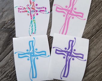 Modern Cross Vinyl Decal