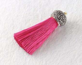 Tassels DIY Craft Supplies Red Jewelry tassels Chunky tassel Short Boho tassels Small tassels Fringe Trim Womens Gift