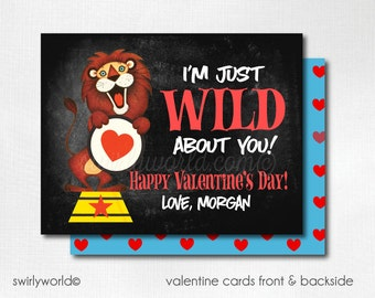 Vintage 1950s Circus Valentine's Day Cards, Cute Valentines for Boys, Kids Valentine Cards, Classroom Valentine Cards for Boys  DI-VAL75