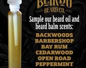 Beard Balm and Beard Oil Scent Sampler / beard oil / beard balm / beard care / gifts for him / gifts for men / beard wash / Sample / Beirdo