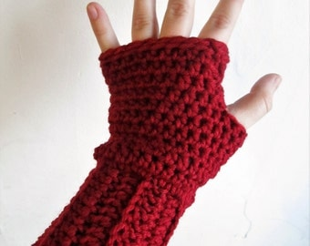 Fingerless gloves/ crochet arm warmers/ choose your color/ warm crochet gloves/ handmade fingerless gloves/ custom gloves/ winter mittens