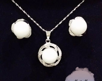 925 Silver Breast Milk DIY Kit/ Breast Milk Jewelry/ Breast Milk Keepsake - Flowery Diamond Necklace & Earring Set
