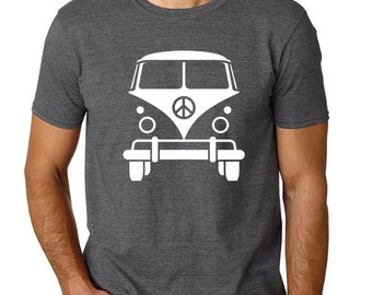 Volkswagen Bus Tshirt, Funny tshirts for men, Husband T-Shirt, VW Bus , Gift for Him, Birthday Gifts for Men, Blue VW Bus Teeshirt