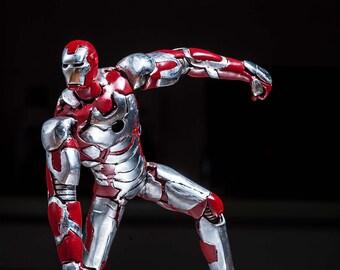 Iron man mark42 stainless steel sculpture, Tony Stark