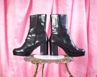 Steve madden retro chunk boots  8 1/2