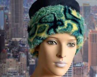 Fur hat with fleece