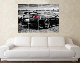 Large Nissan Skyline GTR R35 32 33 34 Drift Car Wall Poster Art Picture  Print