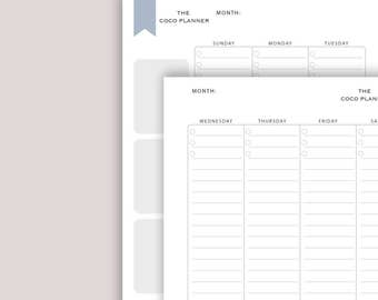 8.5x11 Weekly Planner Printable | Weekly Diary | Download | The Coco Planner