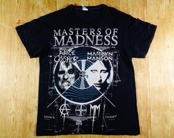 20% OFF Vintage Masters Of Madness Alice Cooper & Marilyn Manson Concert Tour TShirt