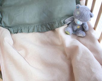 Baby Linen Bedding, Linen duvet cover and Pillowcase, baby in Linen