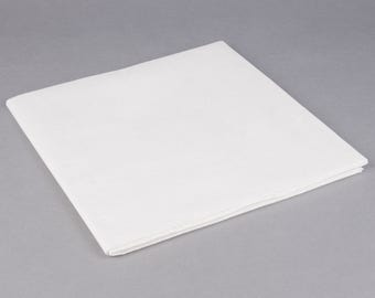 "54""X108"" White  Tissue Rectangle Table Cover, table cover, tableware, party supplies, wedding supplies, birthday party, baby shower"