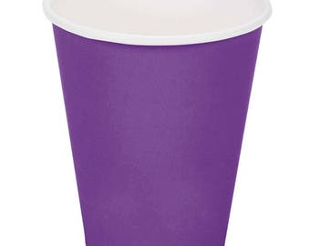 100 ct Purple Poly Paper Cups 9oz Hot/Cold, Party Supplies, Wedding Supplies, Party, Wedding, Paper Cups, Beverage Cups, Cups, Supplies
