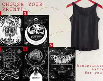 choose your print! handprinted extra for you!