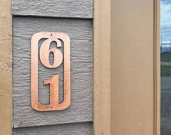 "12"", House Number sign, Metal House Numbers, Metal Numbers, Home Address Numbers, Home Decor, Garden Decor"