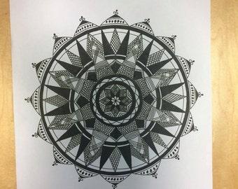 A4 Mandala Print  #1