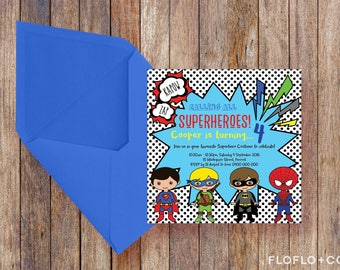 Superhero Costume Party Invitation