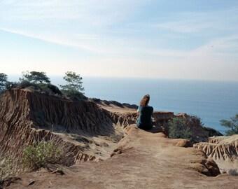 End of Trail, New Horizon 30in  Torrey Pines, Pacific Ocean, California