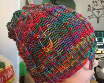 Cable Knit Slouch Hat
