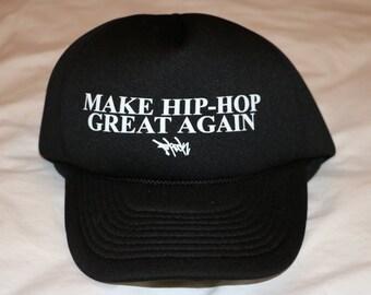 Make Hip-Hop Great Again/ Foam Trucker Hat (Black)