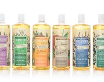 Dr. Jacobs Naturals - 32 oz. All Natural Castile Soap Face and Body Wash Liquid Soap- 10 Scents