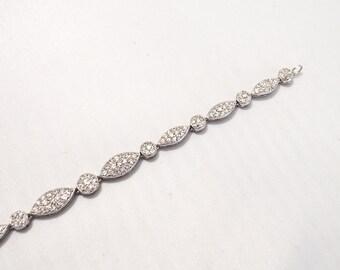 Silver and cristal Swarovski  bracelet