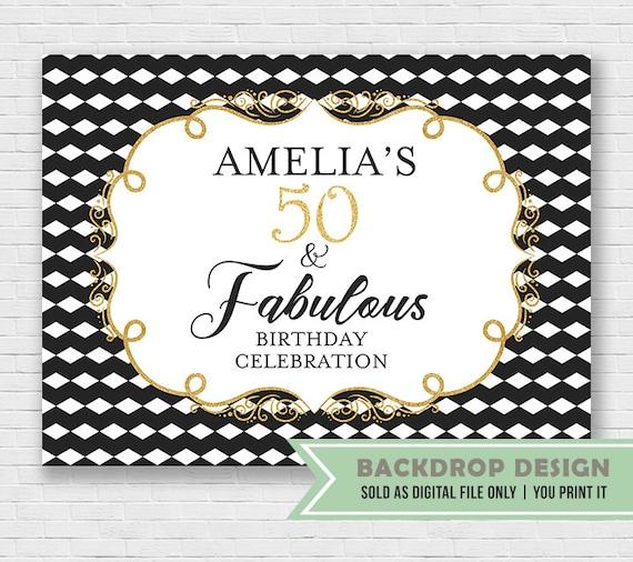 Fabulous Birthday Banner Backdrop // Adult Birthday Backdrop