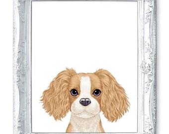 Dog Nursery Print, Baby Dog Print, Small Dog Painting, Little Dog Art Print, Cute Dog Nursery Painting, Boys Room Wall Art, Girls Room Decor