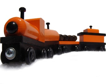 4-Piece Wooden Train