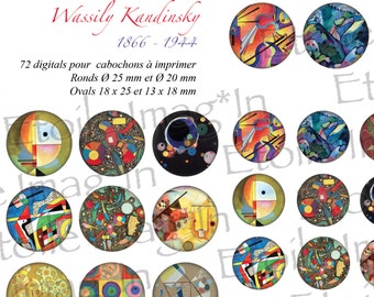 Board 72 digital * Wassily Kandinsky * to print for cabochons