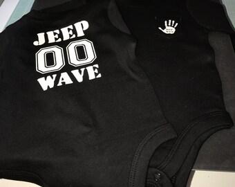 Jeep wave onesie