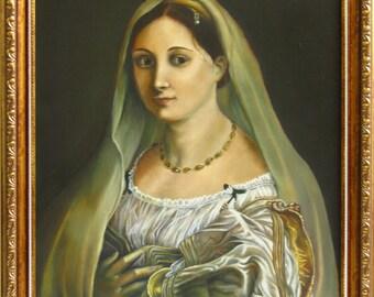 "Copy of the original ""La velata» by Raphael"