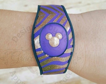 Magic band decal - Tiger stripe decal for new magic bands - LSU tiger stripes - Glitter tiger stripes- Disney band decal - lsu mickey