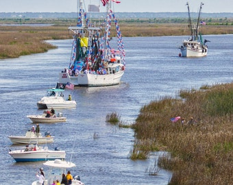 Boats of the Coast - Photo Print of Shrimpers