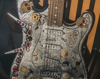 STEAMPUNK electric guitar named 'L'Diablo'.