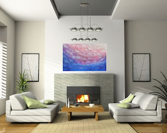 Original Abstract Painting Wall Art Abstract Painting on Canvas Livingroom Décor Canvas Art Modern Acrylic Painting