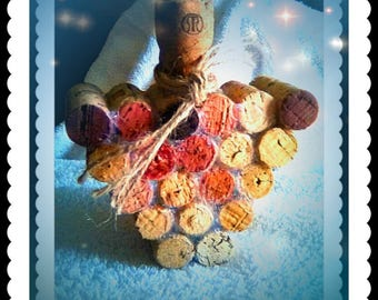 Wine Cork Grape Cluster Craft for Home Decor