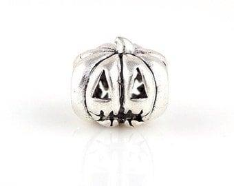 Halloween pumpkin charm bead pandora style