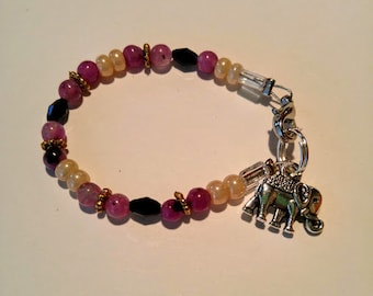 Purple Elephant Bracelet