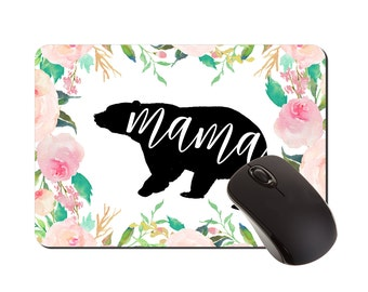 Gift for Mom | Mouse Pad | Mousepad | New Mom Gift Ideas | Desk Accessories | Floral Mousepad | Rectangular Mousepad | Office Decor