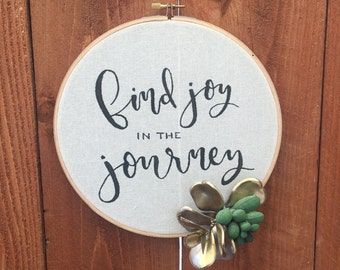 Find Joy in the Journey wall hanging