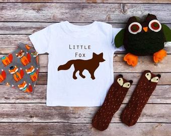 Little Fox Toddler Shirt, toddler clothes, little fox, fox shirt, cute toddler tees, toddler shirt, fox clothes, girl fox shirt, boy fox