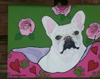 French Bulldog Canvas Art on 11x14 Canvas
