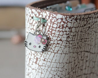 Hello Kitty Plannercharm - Charm for your Travelers Notebook with Swarovski Elements